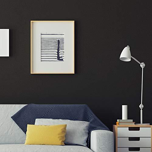 HOMTORA Klebefolie Möbelfolie Dekorfolie Vinyl Küchenfolie 45 * 300cm Selbstklebende Folie PVC Aufkleber für Arbeitsplatte Wände Tür Schränke Wasserdicht Matt(schwarz)