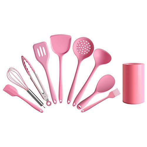 Ustensiles De Cuisine Ensemble, 10 Ustensiles De Cuisson En Silicone Serties Avec Support, Cuisine Gadgets De Cuisine Ensemble Outils De Cuisine Accessoires De Cuisi