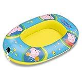Mondo Toys - Peppa Pig Small Boat - Canotto Gonfiabile / Gommone per Bambini - misura 94 cm - Facile da Gonfiare e Sgonfiare - PVC Termosaldato resistente - ideale per spiaggia, mare, piscina - 16641