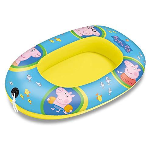 Mondo Toys - Peppa Pig Small Boat - Canotto Gonfiabile / Gommone per Bambini - misura 94 cm - Facile...