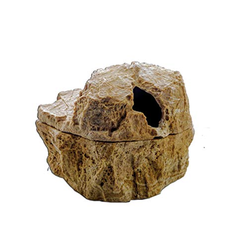 Dragon Wet Box in Steinoptik Höhle für Reptilien und Amphibien (17x14x15cm, Sandstein)