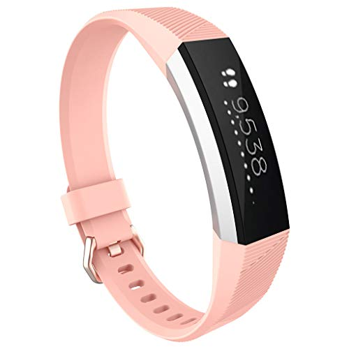 Hubei1 14 relógios coloridos, pulseira de substituição de cristal, pulseira de silicone para relógio Fitbit Alta HR