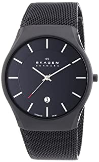 Skagen White Label Men's Quartz Watch with Black Dial Analogue Display and Black Titanium Strap 956XLTBB (B0090ZL21W) | Amazon price tracker / tracking, Amazon price history charts, Amazon price watches, Amazon price drop alerts