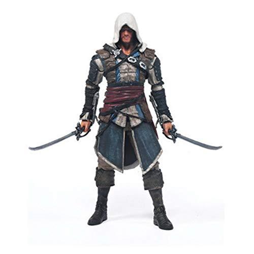 huanghuang Assassins Creed 4: Bandera Negro Edward James Kenway Estatua Figura de acción del PVC