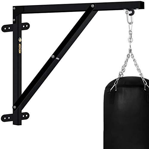 Farabi Boxsack-Wandhalterung, Wandhalterung für schwere Boxsäcke, strapazierfähige Workout-Boxsack-Halterung, Rahmen, Aufhänger, Ständer, Training, zur Anbringung an der Wand, FPBS, Schwarz , 3-FT
