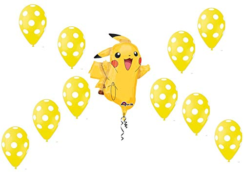 Pokemon Pikachu Supershape Set Bouquet CENTROTAVOLA Sula O Elio - CDC - (1 Supershape, 20 pois) ballonnen