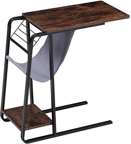 HGERFXC Tavolino portaoggetti Tavolino da Salotto Tavolino da caff猫 Tavolino da Salotto con Struttura in Legno e Metallo per Soggiorno Camera da Letto (Nero)