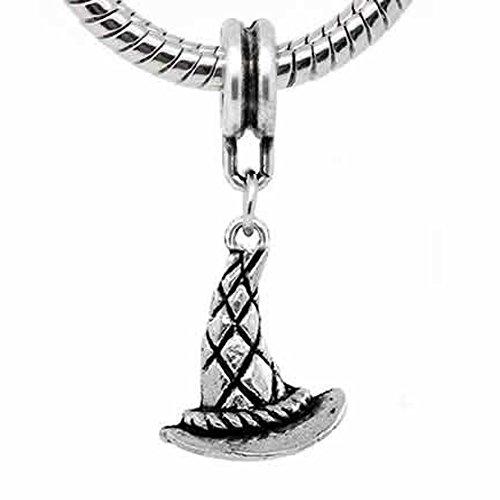 Sexy Sparkles Abalorio para mujer con diseño de gorro de bruja y cadena de serpiente.