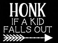 車 ステッカーデカール-子供が倒れた場合のホーン音、車のステッカー防水パーソナリティデカールオートバイ自動車部品装飾PVC13cmx10cm-白