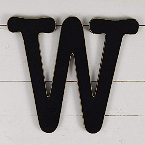 "UNFINISHEDWOODCO 11.5"" Typewriter Wall Decor W Black Wood Letter"
