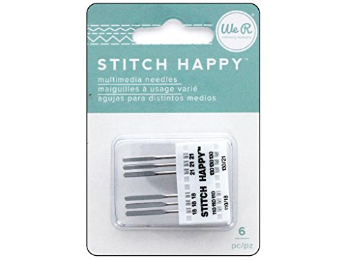 We R Memory Keepers 0633356603948 Accessories Stitch Happy-Needles-Variety Pack (6 Piece)