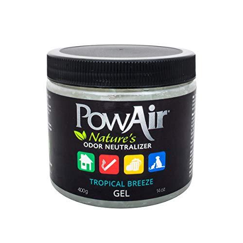 PowAir Gel – Neutralizzatore di odori professionale agli oli essenziali. Rigenera l'aria negli ambienti domestici, rilascia un gradevole profumo Tropical Breeze per 500+ ore | Soluzione in Gel - 500ml