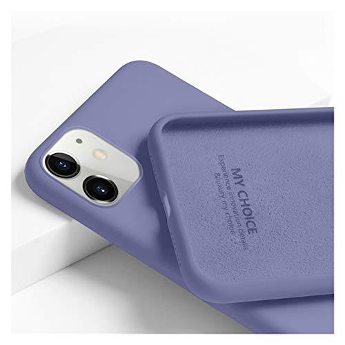 KEHUITONG PSWK Funda Suave Original para Apple iPhone11 / 12 / Pro/MAX/SE 2 2020 / 6S / 7/8 / Plus/X/XS/MAX/XR Color de Caramelo Lindo de Las Parejas de la Cubierta de Silicona Suave