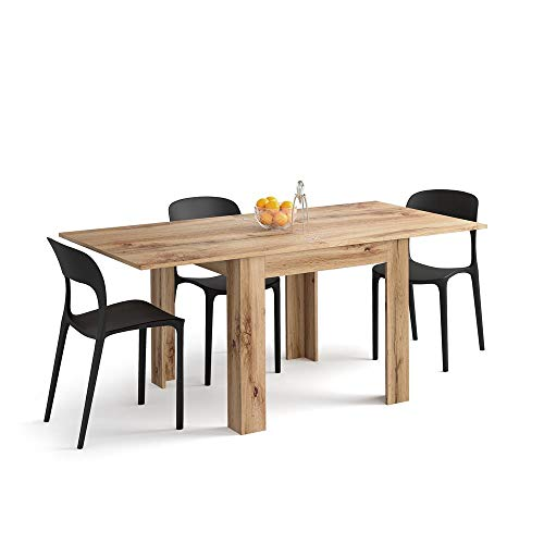 Mobili Fiver, Square extendable dining table, Eldorado, Rustic Wood, Laminate-finished, Made in Italy