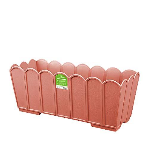 CIKO Plastic vegetable planter, resin plastic flower pot, rectangular flower trough, used for window sill, terrace, garden, home decoration, porch
