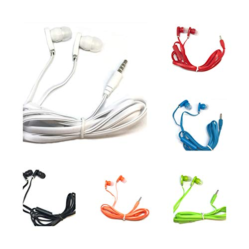 TFD Supplies Wholesale Bulk Earbuds with Microphone Headphones 50 Pack for...