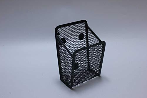 N\C Soporte magnético para bolígrafo de metal de malla de hierro caja de almacenamiento de escritorio cuadrado titular de la pluma de almacenamiento accesorios