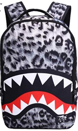 VHVCX 3D Cartoon Leopard Ear Printing Backpack Women Fashion Backpack Casual School Bags For Teenagers Girls Boys Travel Bags,Gray