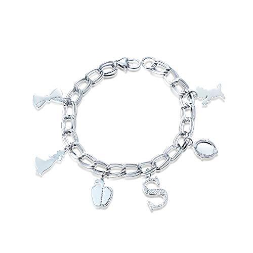 Disney Snow White White Gold Plated Charm Bracelet