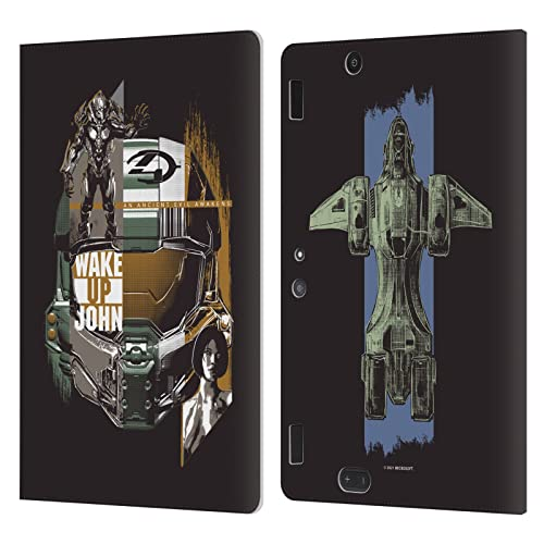 Head Case Designs Officially Licensed Xbox Game Studios Halo Infinite Wake Up John 20th Anniversary Leather Book Wallet Case Cover Compatible with...