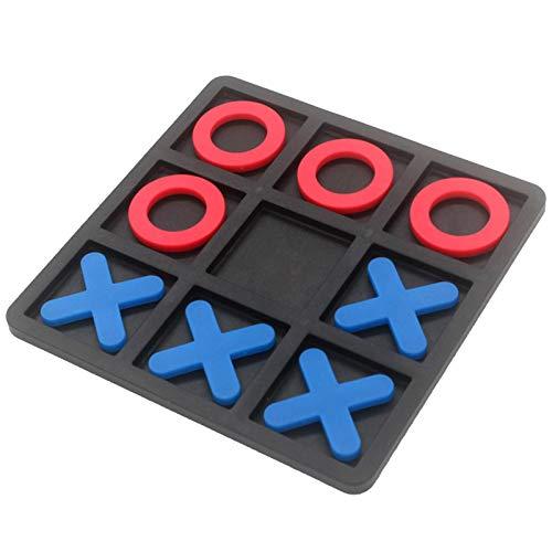 precauti Nullen und Kreuze Spiel für Kinder und Familie Mini Brettspiel 3D Tragbare Reisespiele Dekor Pädagogische Tischplatte Familienspiel Spielzeug 15x15 cm