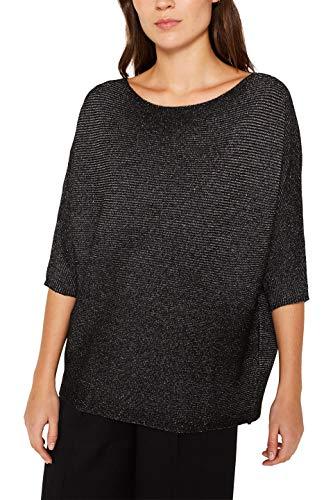ESPRIT Damen 119EE1I016 Pullover, Schwarz (Black 2 002), Medium (Herstellergröße: M)