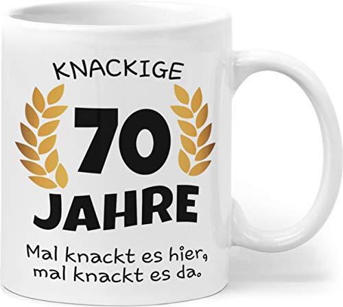 Knackige 70 Jahre Geburtstag   Geschenk zum 70. Geburtstag   Tasse mit lustigem Spruch Geschenkideen (Zum 70. Geburtstag)