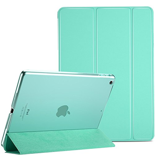 MOCA for The Apple NEW iPad 9.7 inch 2018 / 2017 Model. A1893 A1954 A1822 A1823 PU Leather Folio flip cover (Turquoise)