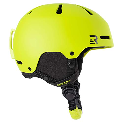 Retrospec Traverse H3 Youth Ski & Snowboard Helmet , Matte Lime, Small