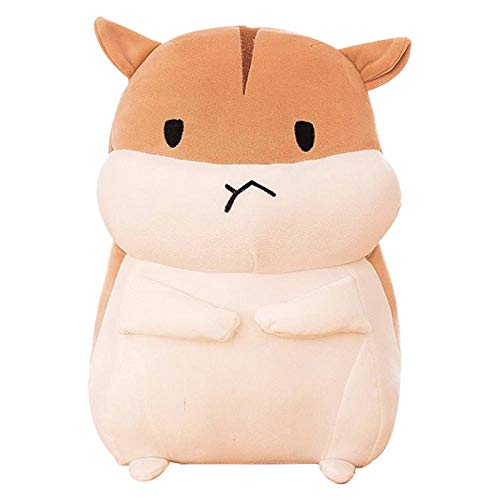 Pet Toy Pet Dog Toy Hamster Cotton Plush Dog Toys Soft Stuffed Doll Cushion Cartoon Interactive Toy For Puppies And Kids 30Cm Yellow-Angry