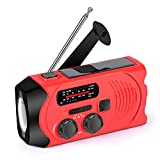Wind Up Emergency Weather Radio, AM/FM/NOAA Solar Crank Radio with 2000 mAh Power Bank, Flashlight,SOS Alarm, Phone Charger for Hurricanes, Tornadoes and Storms