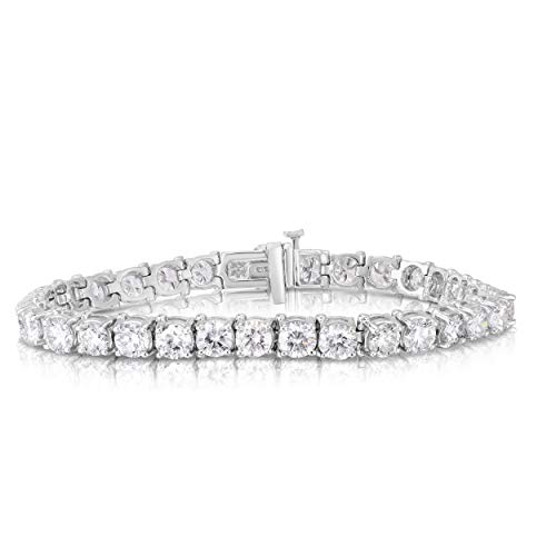 Femme Luxe Certified 13.34 ct. Lab-Grown Diamonds and 14K White Gold Tennis Bracelet for Women, E-F Color, VS1-VS2 Clarity