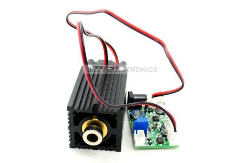 Fokussierbares 450nm 2W 2000mw blaues Punkt-Laser-Modul mit Fahrer 12V power + TTL 5V für hölzernes Schnitzen