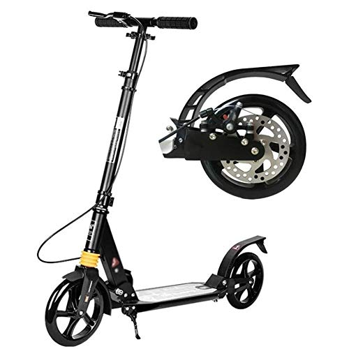 Lowest Price! Scooter HLR Kick Outdoor Riding Portable Foldable Adult Kick with Hand Disc Brake, Big...