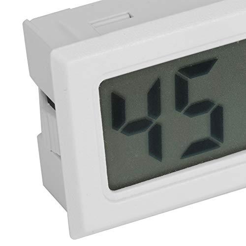 Denkerm Termómetro Digital higrómetro, medidor de Temperatura de Humedad Integrado, termómetro de Reptil de 4 Piezas para el hogar, la Oficina, Las escuelas, el Coche(TS-804-W)