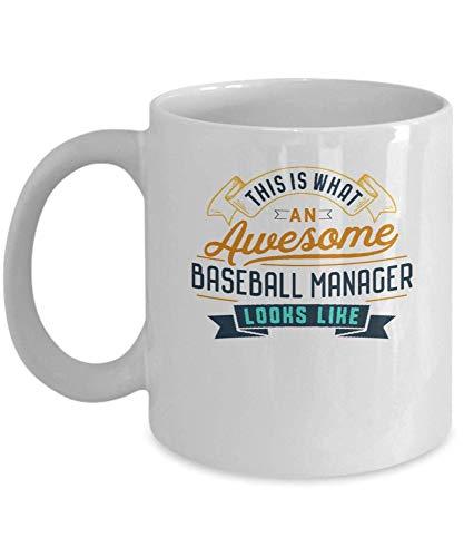 Divertida taza de café para gerente de béisbol, impresionante trabajo, ocupación, regalos para el día de la madre, novedad, tazas divertidas, regalo de 11 oz