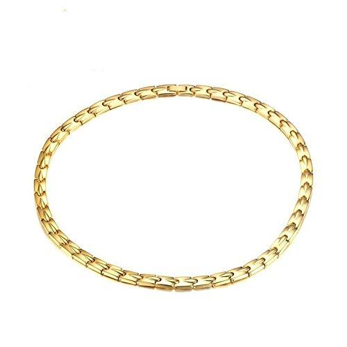 AdorabFruit Gift Pendant Golden Titanium Steel Bracelet Magnet Bracelets For Men Travel Business (Metal Color : As shown)