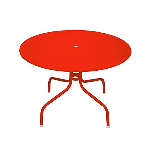 "Northlight 39.25"" Red Retro Metal Tulip Outdoor Dining Table"