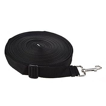 RETYLY Noir 20m Long Corde de Chiot d'obeissance Laisse de Formation de Chien