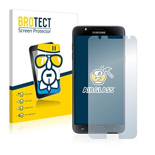 BROTECT Panzerglas Schutzfolie kompatibel mit Samsung Galaxy J7 Duo 2018 - AirGlass, extrem Kratzfest, Anti-Fingerprint, Ultra-transparent
