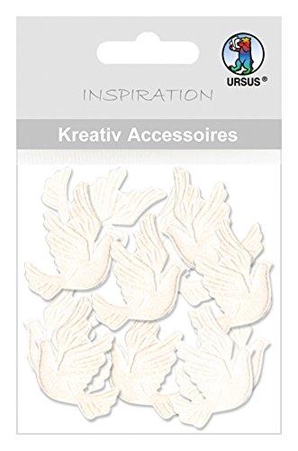 Ursus 56410026 - Kreativ Accessoires Mini Pack, Tauben, perlmutt