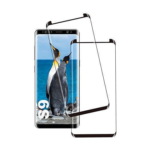 Galaxy S9 Film Protection Ecran Verre Trempé, [2 Pièces] [Case Friendly] [Ultra Claire] [sans Bulles] Film Protecteur en Verre trempé de Haute qualité pour Samsung Galaxy S9