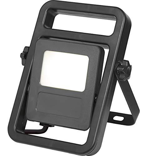 LED-Baustrahler tragbar 30 W EEK: A | Baulampe mit Aufstellbügel und schwenkbarem Leuchtkopf