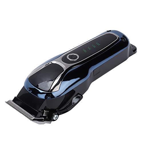 Máquina de cortar pelo profesional, Cortapelos Impermeable con 4 Peine-guía, Recargable, Motor Fuerte Incorporado, Cortadora de Pelo con Panel LCD para Salón Profesional y Uso Doméstico