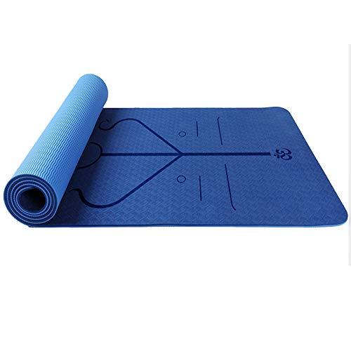 Zorara Esterillas Yoga,Antideslizante Alfombrilla de Yogacon TPE de Material Natural con Cuerda,Yoga Mat de 183x61cm, 6mm de Grosor, No tóxico, para Pilates,Fitness