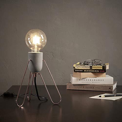 Lámpara de mesa LEDelegante y moderna de color oro rosa VN-L00022-EU
