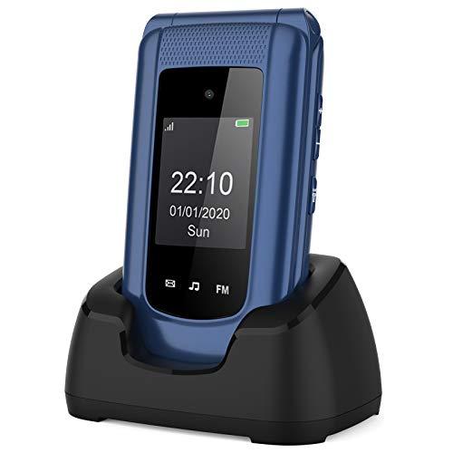 Teléfono Móvil Simple para Mayores con Teclas Grandes ácil de Usar Telefonos Basicos para Ancianos con SOS Botón, Bluetooth, MP3 Player, Cámara