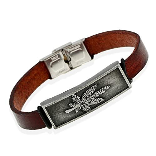 N/A Herren- und Damenschmuck Britisches Retro-Ahornblatt-Armband trendiges Sportler-Legierungsarmband handgefertigter Edelstahl Hochzeitstag Muttertag Weihnachten Geburtstagsgeschenk