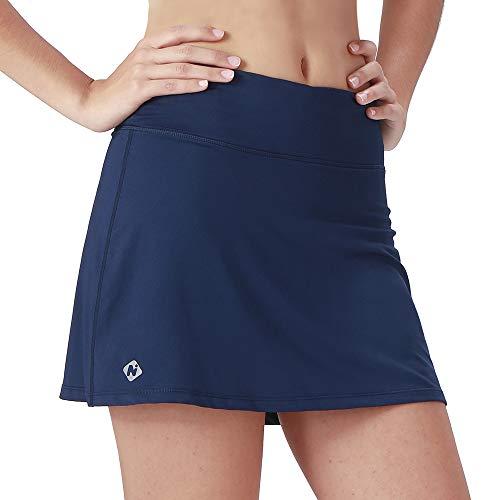 NAVISKIN Falda Pantalón Deportiva de Tenis Golf para Mujer Skorts Casuales con Bolsillos para Correr Entrenamiento Pilates Fitness Elástica Transpirable Azul XL