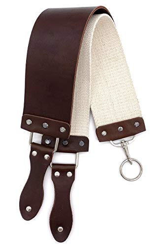 Barber's Latigo Leather Straight Razor Strop. Dual Strap that will be a Great Addition for Any Straight Razor. (Brown)
